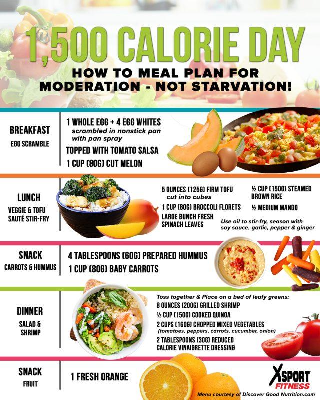 1,500 calorie meal plan