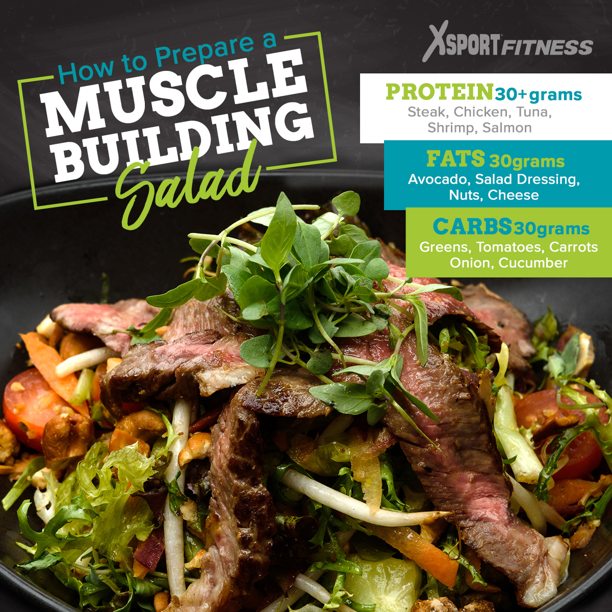 Healthy salad recipes muscle building the xsport life muscle building salads steak salad malvernweather Choice Image