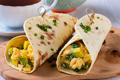 Breakfast egg wrap
