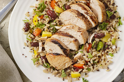 Foods for runners - chicken with quinoa