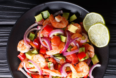 shrimp and avocado ceviche